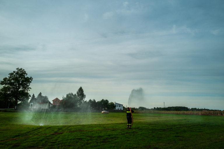 Pokaz lania wody Ochotnicza Straż Pożarna w Nowej Suchej